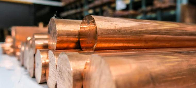 Copper Round Bars Stockist